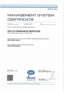 Ultramarin services ISO 9001