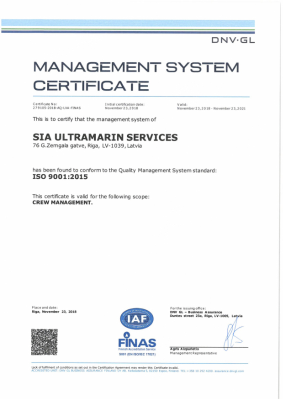 Vacancies – Ultramarin – Crewing agency in Riga
